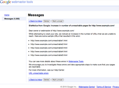 Google SiteNotice