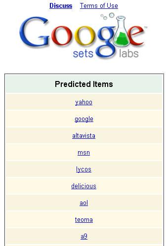 google sets